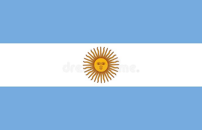 διαθέσιμο διάνυσμα ύφους γυαλιού σημαιών της Αργεντινής Επίσημη αναλογία Σωστά χρώματα διάνυσμα διανυσματική απεικόνιση
