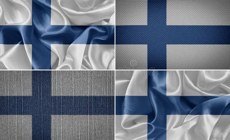 διαθέσιμο διάνυσμα ύφους γυαλιού σημαιών της Φινλανδίας διανυσματική απεικόνιση