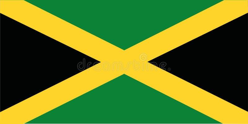 διαθέσιμο διάνυσμα ύφους της Τζαμάικας γυαλιού σημαιών διανυσματική απεικόνιση