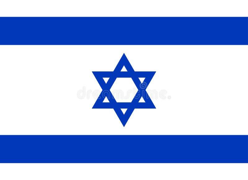διαθέσιμο διάνυσμα ύφους του Ισραήλ γυαλιού σημαιών Επίσημα χρώματα Σωστή αναλογία διάνυσμα ελεύθερη απεικόνιση δικαιώματος