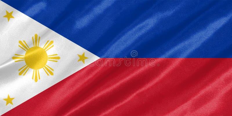 διαθέσιμο διάνυσμα ύφους των Φιλιππινών γυαλιού σημαιών ελεύθερη απεικόνιση δικαιώματος