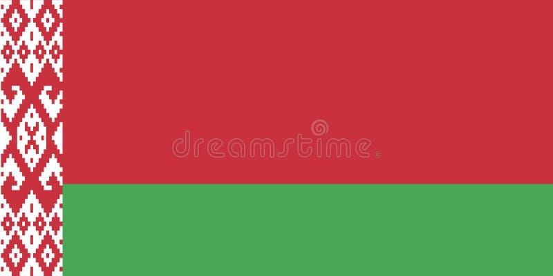 διαθέσιμο λευκορωσικό διάνυσμα ύφους γυαλιού σημαιών απεικόνιση αποθεμάτων