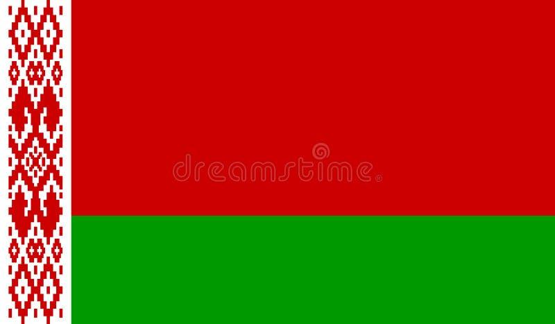 διαθέσιμο λευκορωσικό διάνυσμα ύφους γυαλιού σημαιών διανυσματική απεικόνιση