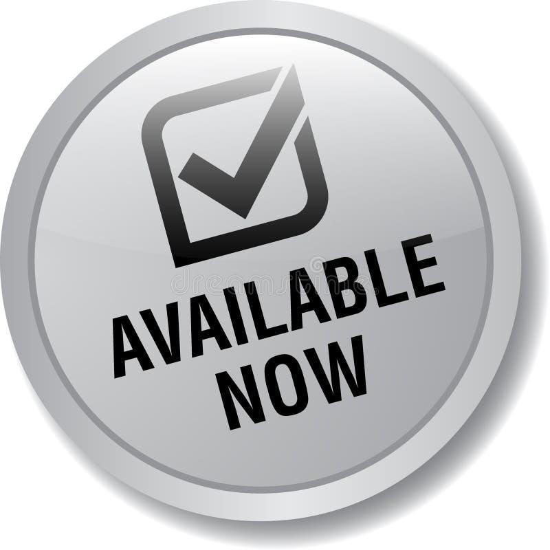 Διαθέσιμο τώρα κουμπί Ιστού ελεύθερη απεικόνιση δικαιώματος