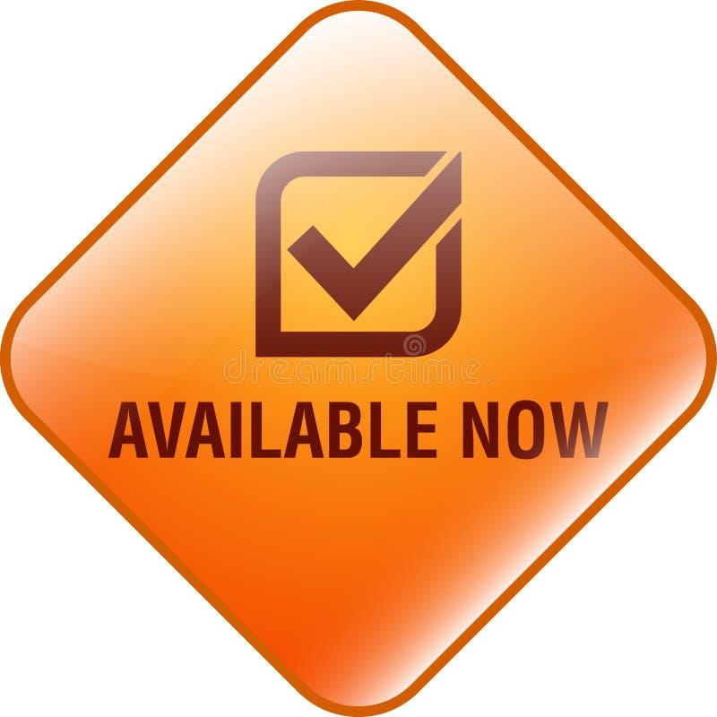 Διαθέσιμο τώρα κουμπί Ιστού απεικόνιση αποθεμάτων