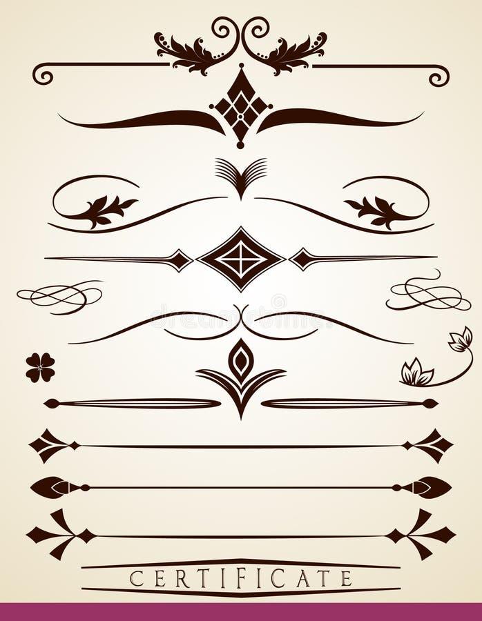 Διαιρέτες κειμένων και παραγράφου διανυσματική απεικόνιση