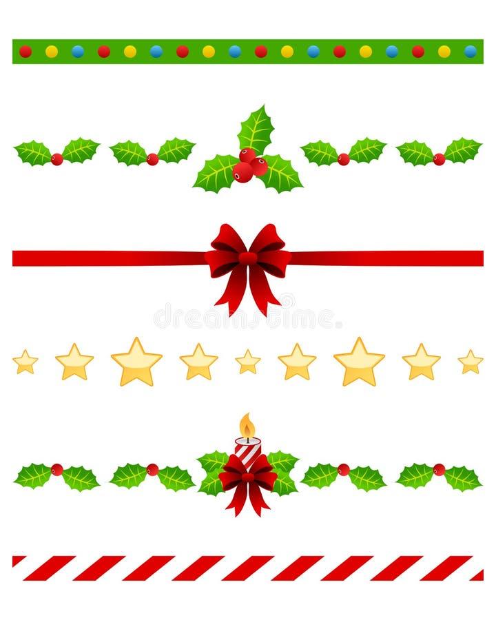 Διαιρέτες Χριστουγέννων που τίθενται [3] ελεύθερη απεικόνιση δικαιώματος