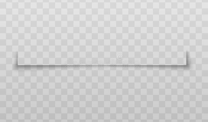 Διαιρέτης σελίδων ή ρεαλιστική διανυσματική απεικόνιση επίδρασης σκιών εγγράφου που απομονώνεται διανυσματική απεικόνιση