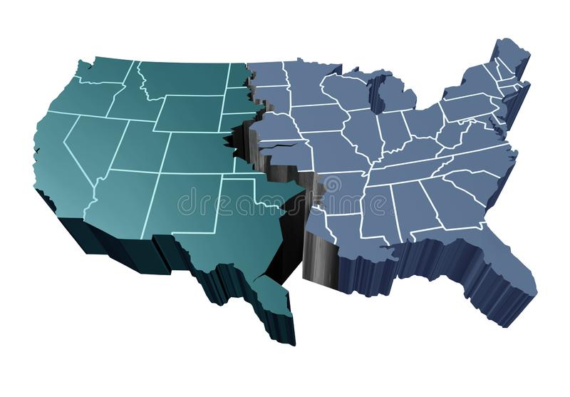 Διαιρεμένο έθνος ελεύθερη απεικόνιση δικαιώματος