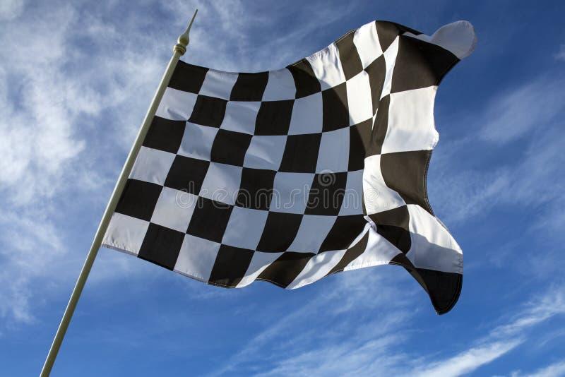 Διαιρεσμένη σε τετράγωνα σημαία - νικητής στοκ εικόνα