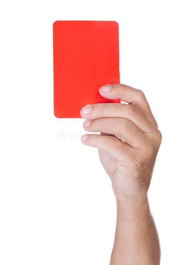 Διαιτητής ποδοσφαίρου που εμφανίζει κίτρινη κάρτα στοκ εικόνες με δικαίωμα ελεύθερης χρήσης