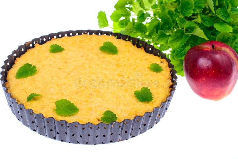 Διαιτητική ζύμη καμία ζάχαρη Κέικ της Apple με oatmeal στοκ φωτογραφία