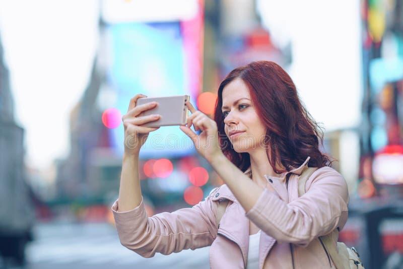 Διακινούμενος φωτογράφος στο Μανχάταν στοκ εικόνες με δικαίωμα ελεύθερης χρήσης