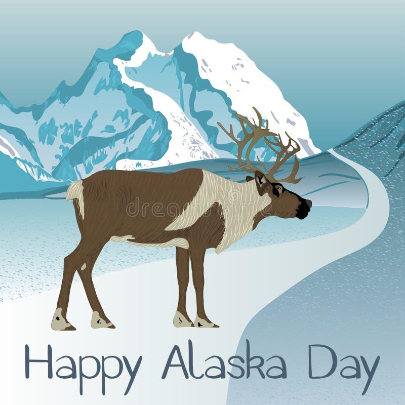 Διακοπές ημέρας της Αλάσκας ελεύθερη απεικόνιση δικαιώματος