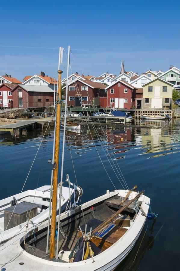 Διακοπές και residentual σπίτια Smögen στοκ φωτογραφίες με δικαίωμα ελεύθερης χρήσης