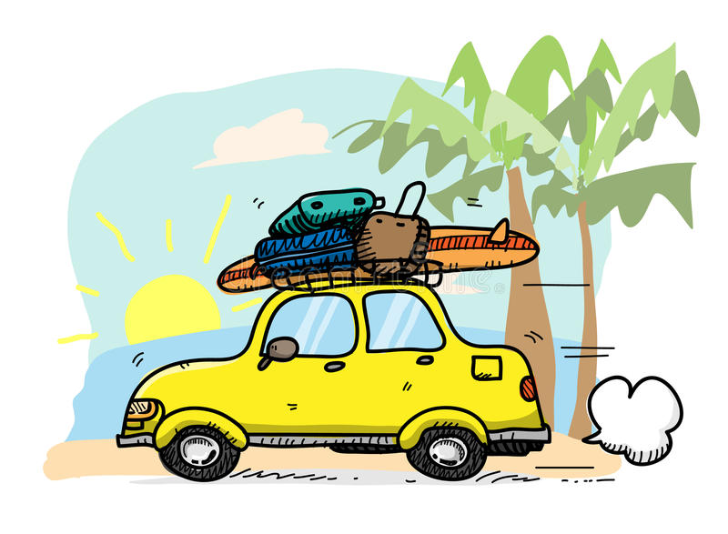 Διακοπές παραλιών απεικόνιση αποθεμάτων