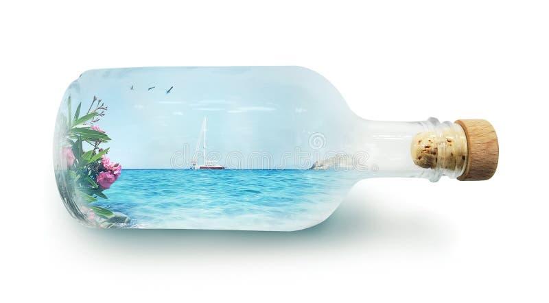 Διακοπές σε ένα μπουκάλι στοκ εικόνα με δικαίωμα ελεύθερης χρήσης