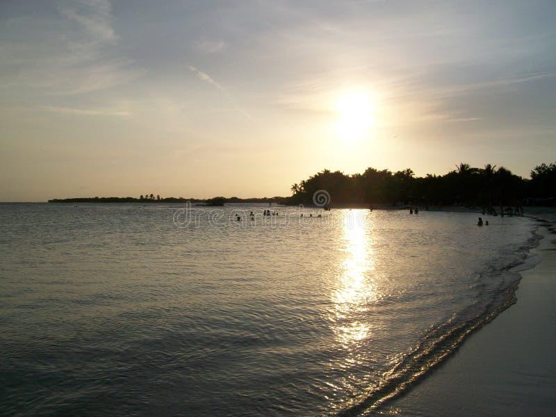 Διακοπές στην παραλία Morrocoy, Βενεζουέλα στοκ εικόνα με δικαίωμα ελεύθερης χρήσης