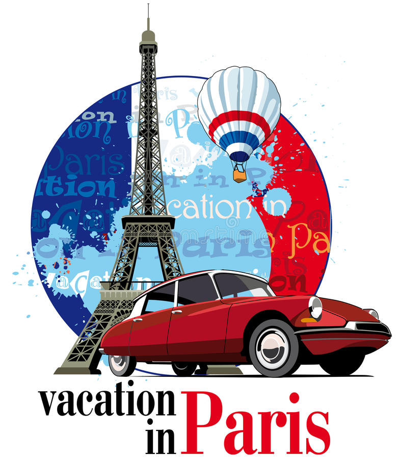 Διακοπές στο Παρίσι διανυσματική απεικόνιση