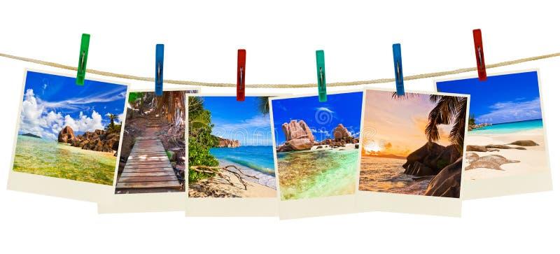 διακοπές φωτογραφίας παραλιών clothespins στοκ εικόνα με δικαίωμα ελεύθερης χρήσης
