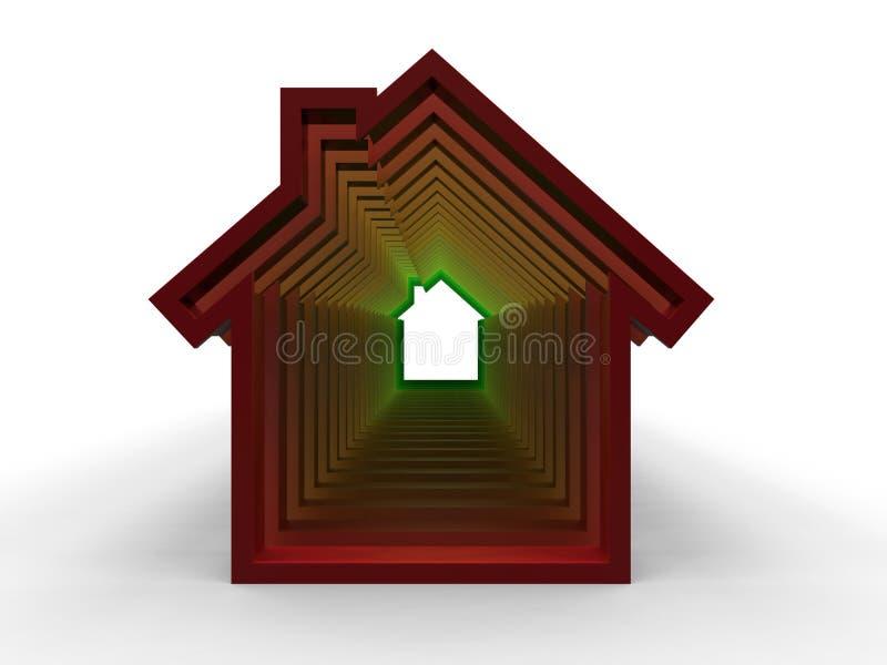 Διακοπή σπιτιών - έννοια ενεργειακής αποδοτικότητας απεικόνιση αποθεμάτων