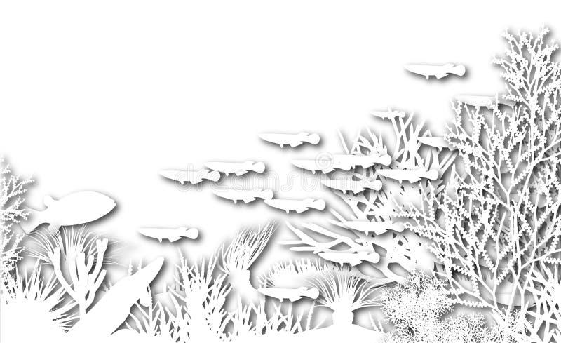 διακοπή υποβρύχια διανυσματική απεικόνιση