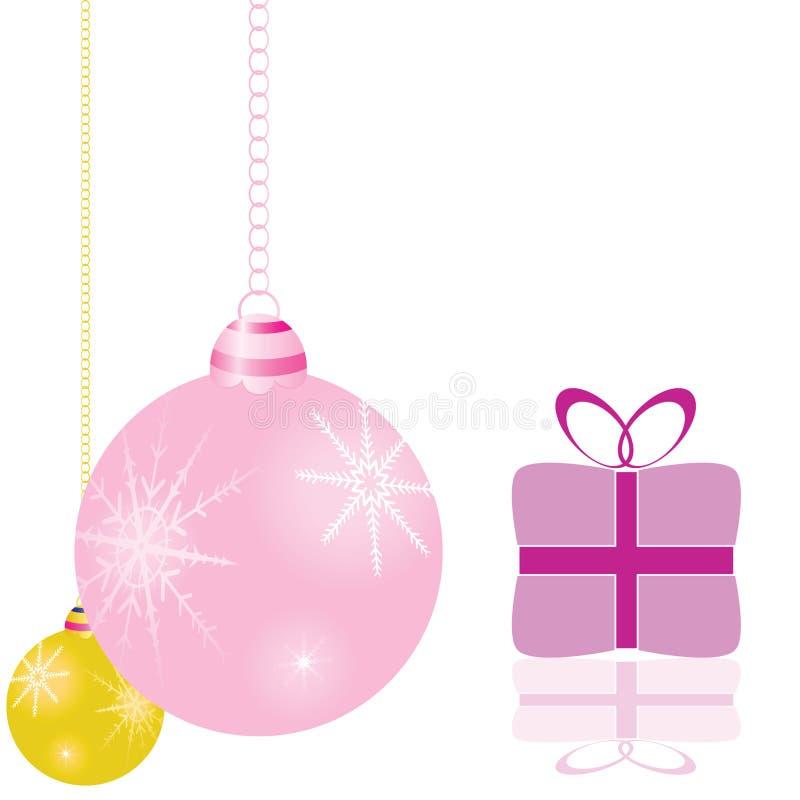 Διακοσμήσεις για το διάνυσμα χριστουγεννιάτικων δέντρων απεικόνιση αποθεμάτων