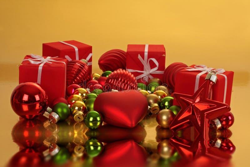 διακοσμήσεις δώρων Χρισ&ta στοκ εικόνα