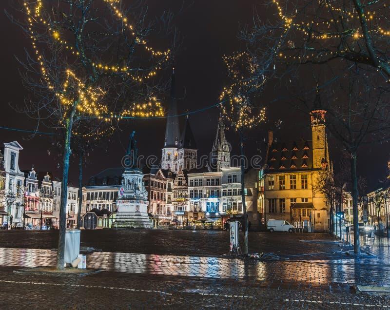 Διακοσμήσεις εκκλησιών και Χριστουγέννων του ST James στη Γάνδη στοκ φωτογραφία με δικαίωμα ελεύθερης χρήσης