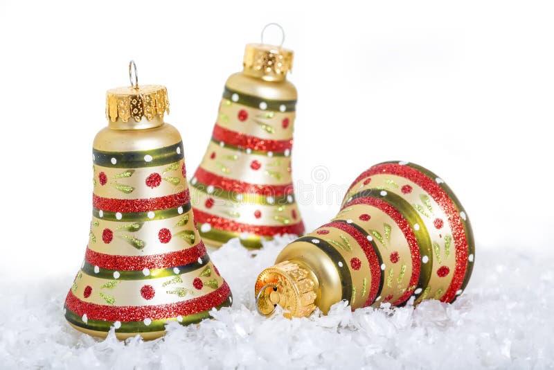 Διακοσμήσεις κουδουνιών Χριστουγέννων στοκ εικόνες με δικαίωμα ελεύθερης χρήσης