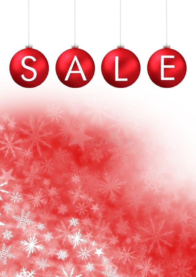 Διακοσμήσεις μπιχλιμπιδιών Χριστουγέννων πώλησης και Snowflake σχέδιο Χριστουγέννων και κενό διάστημα ελεύθερη απεικόνιση δικαιώματος