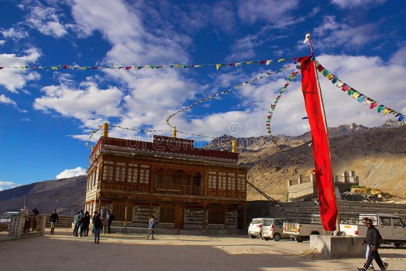 Διακοσμήσεις στο μοναστήρι Gue, Spiti, Shimla, Himachal Pradesh στοκ φωτογραφία με δικαίωμα ελεύθερης χρήσης