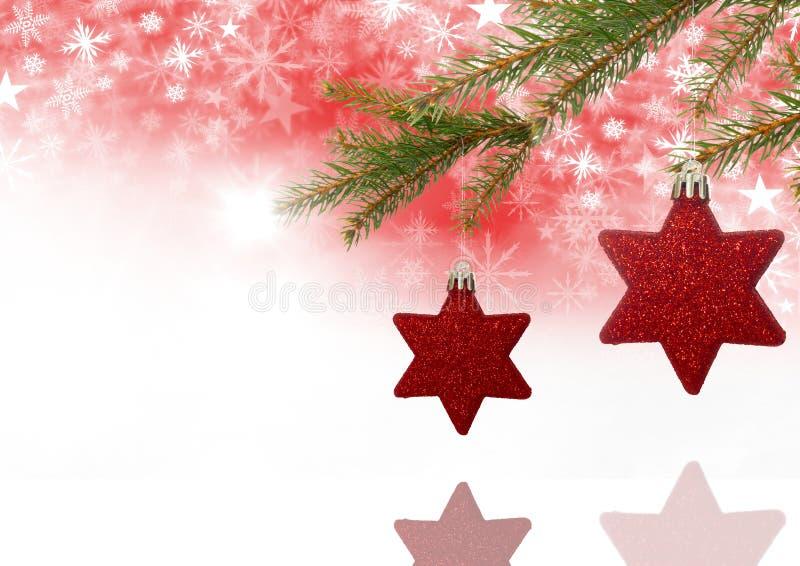 Διακοσμήσεις Χριστουγέννων και Snowflake σχέδιο Χριστουγέννων και κενό διάστημα απεικόνιση αποθεμάτων