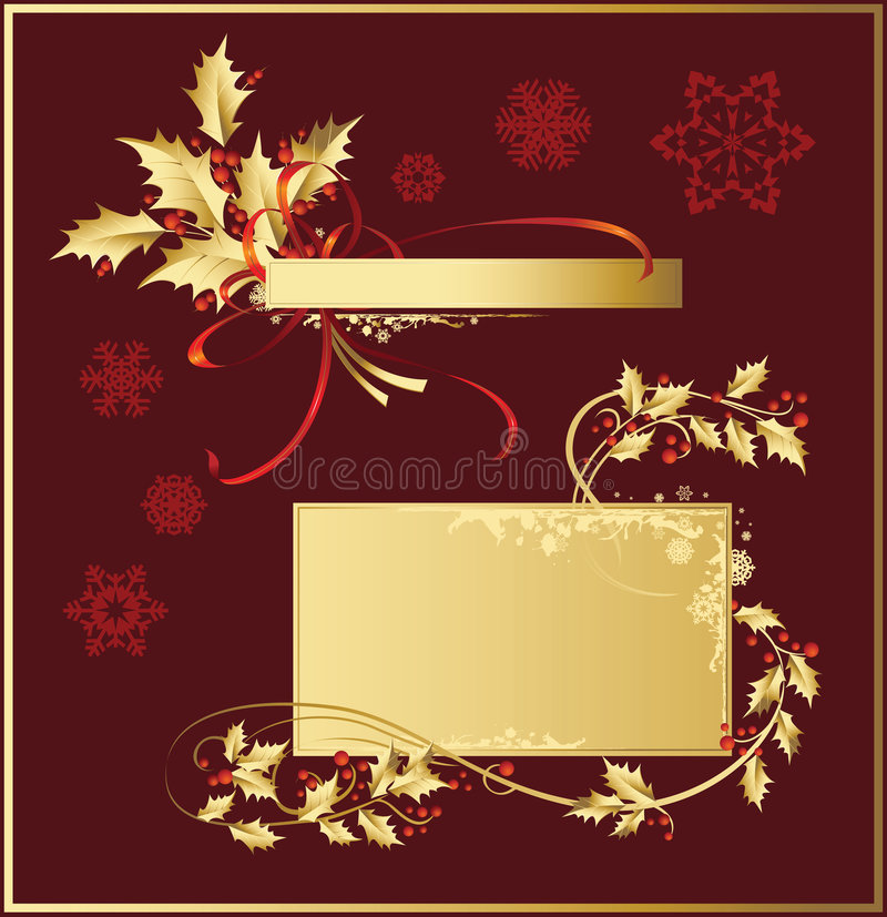 διακοσμήσεις Χριστουγέννων που τίθενται διανυσματική απεικόνιση