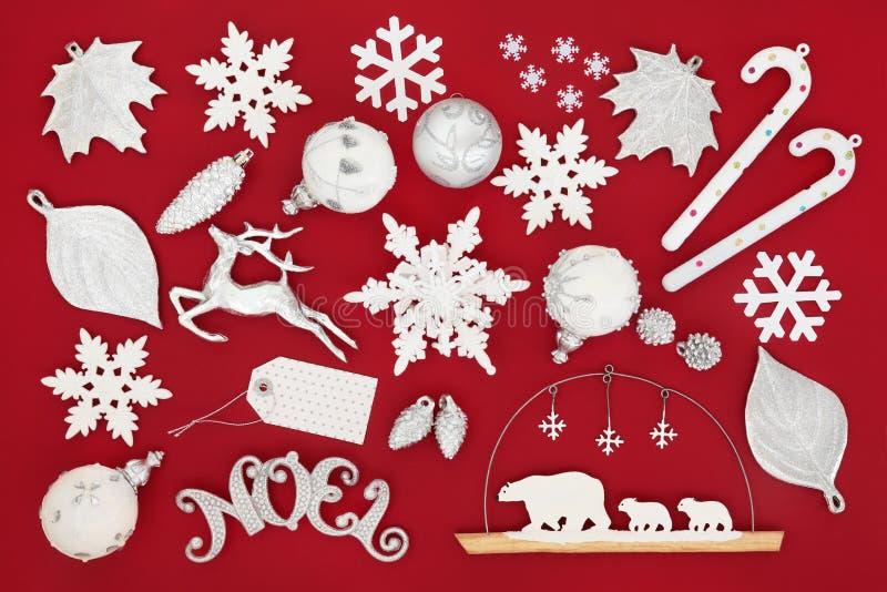 Διακοσμήσεις Noel Χριστουγέννων στοκ εικόνες με δικαίωμα ελεύθερης χρήσης