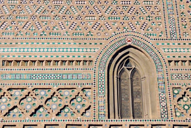 Διακοσμημένος τοίχος μιας παλαιάς εκκλησίας στη Μάλαγα, Ισπανία στοκ εικόνες με δικαίωμα ελεύθερης χρήσης