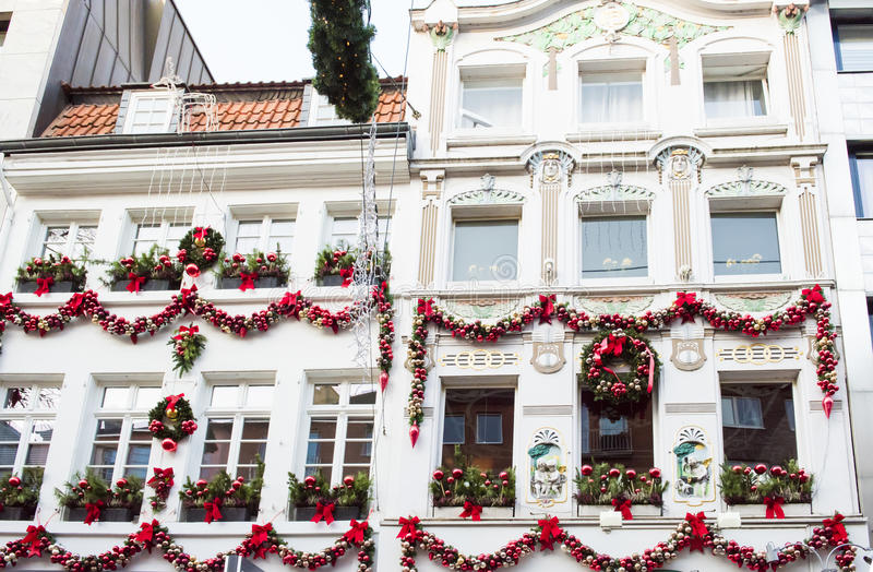 Διακοσμημένος χρόνος Χριστουγέννων σπιτιών στοκ εικόνες