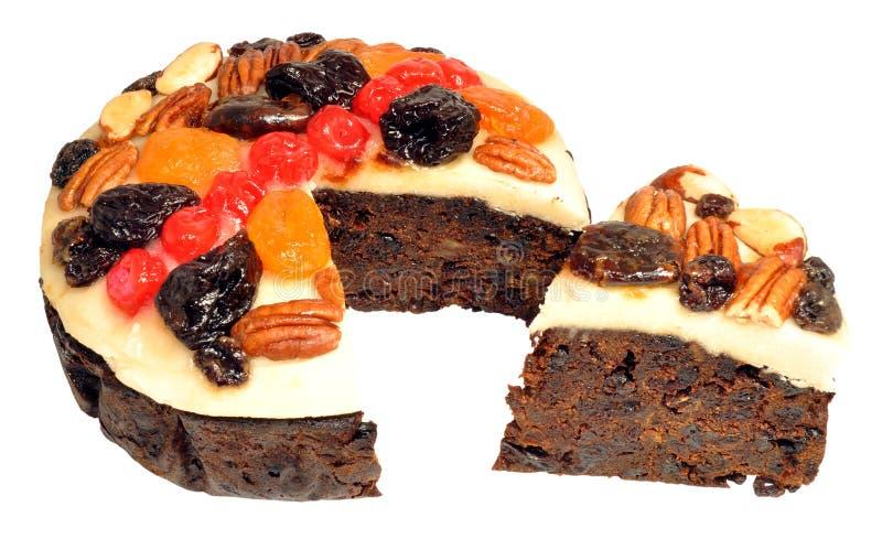 Διακοσμημένο κέικ φρούτων στοκ φωτογραφίες