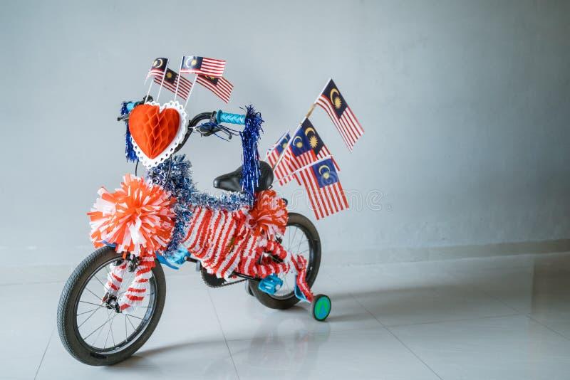 Διακοσμημένο ποδήλατο για τη εθνική μέρα της Μαλαισίας στοκ εικόνες