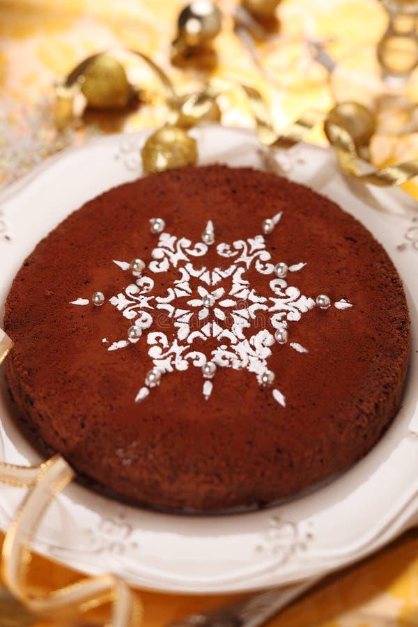 διακοσμημένο σοκολάτα snowf στοκ εικόνες