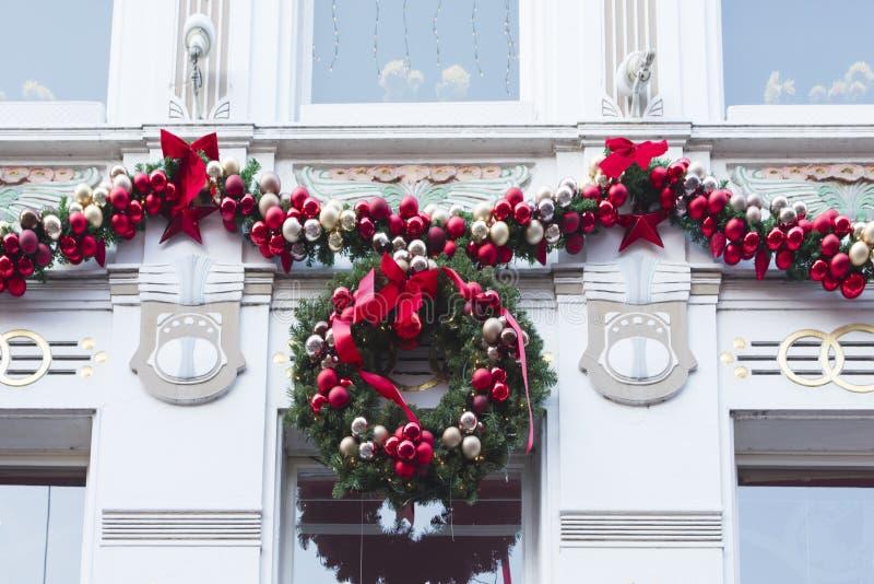 Διακοσμημένο σπίτι στο χρόνο Χριστουγέννων στοκ φωτογραφίες με δικαίωμα ελεύθερης χρήσης