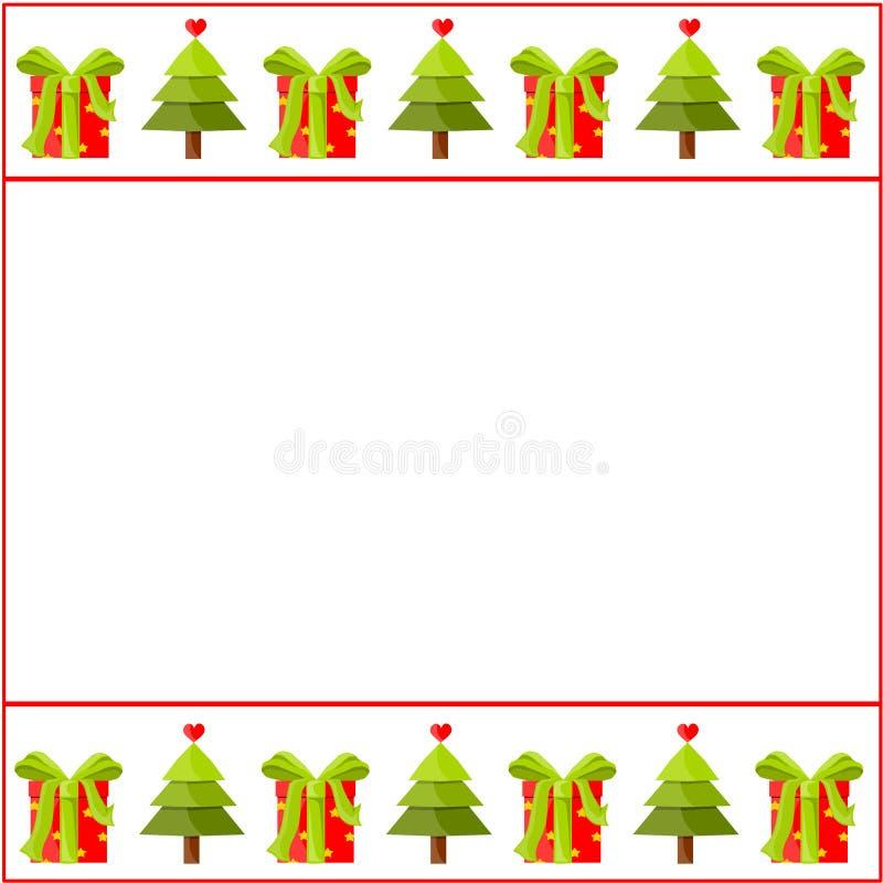 Διακοσμημένο Χριστούγεννα έγγραφο διανυσματική απεικόνιση