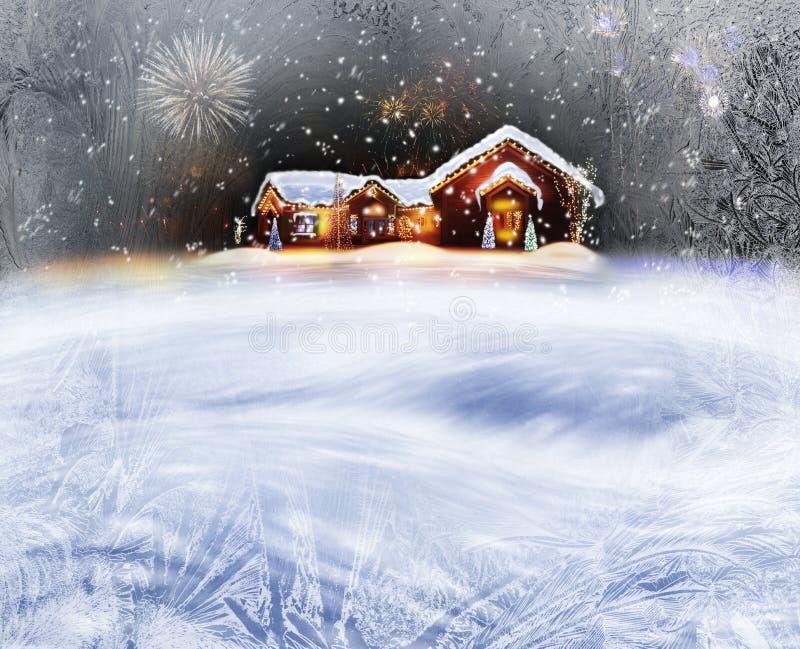 Διακοσμημένο Χριστούγεννα σπίτι στοκ εικόνες με δικαίωμα ελεύθερης χρήσης