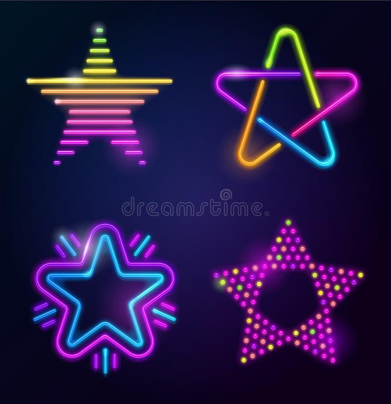 διακοσμητικά αστέρια νέου ελεύθερη απεικόνιση δικαιώματος
