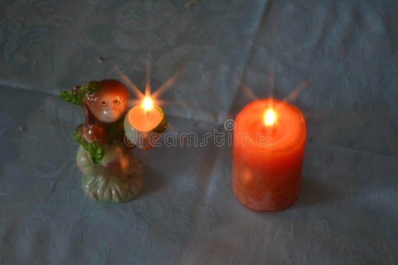 Διακοσμητικά κεριά Διαμορφωμένο πίθηκος κερί στοκ φωτογραφία