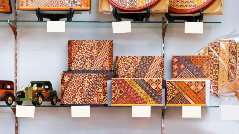 Διακοσμητικά κιβώτια φιαγμένα από ξύλο, Hanoke, Ιαπωνία Κινηματογράφηση σε πρώτο πλάνο στοκ εικόνες