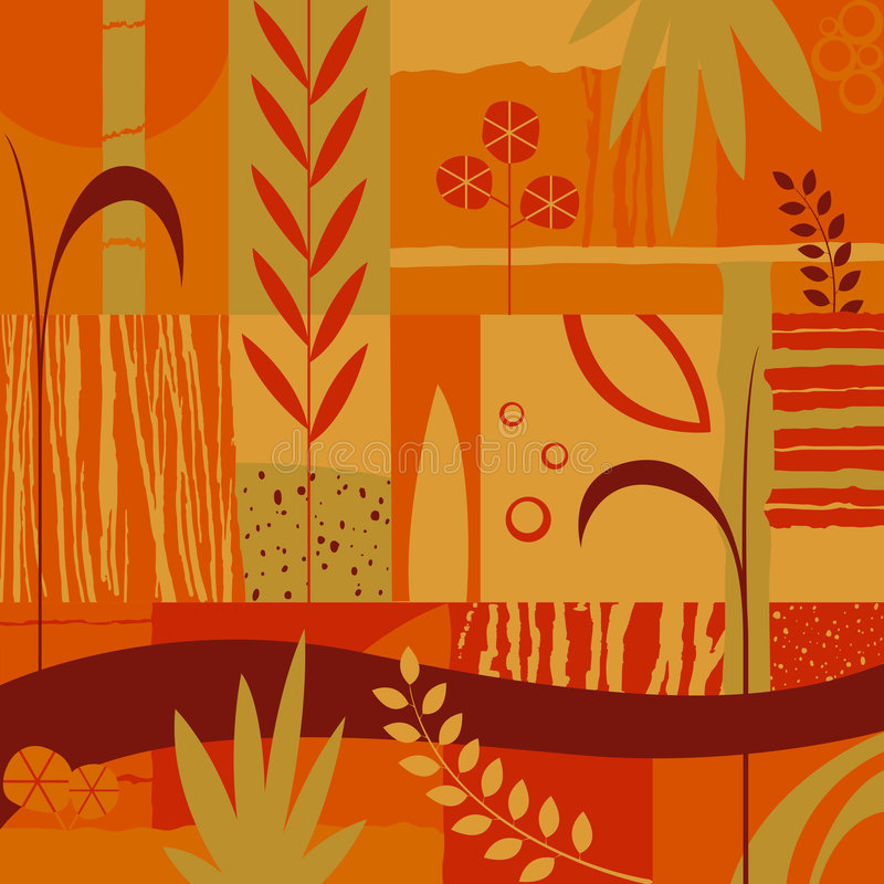 διακοσμητικά φυτά σχεδί&omicron ελεύθερη απεικόνιση δικαιώματος