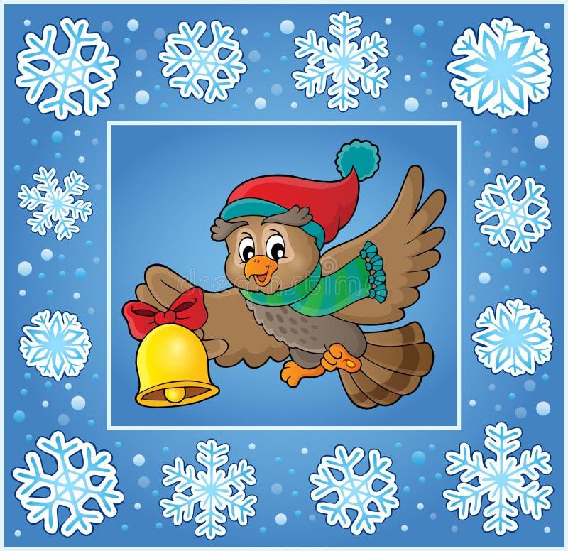 Διακοσμητική ευχετήρια κάρτα 7 Χριστουγέννων ελεύθερη απεικόνιση δικαιώματος