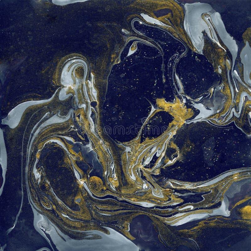Διακοσμητική μαρμάρινη σύσταση αφηρημένη ζωγραφική Καθιερώνον τη μόδα υπόβαθρο για την εκτύπωση και τους ιστοχώρους Χρώματα χρώμα στοκ φωτογραφίες