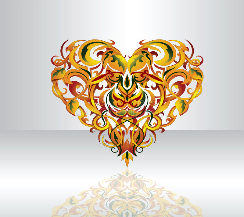 διακοσμητική μορφή καρδιών διανυσματική απεικόνιση